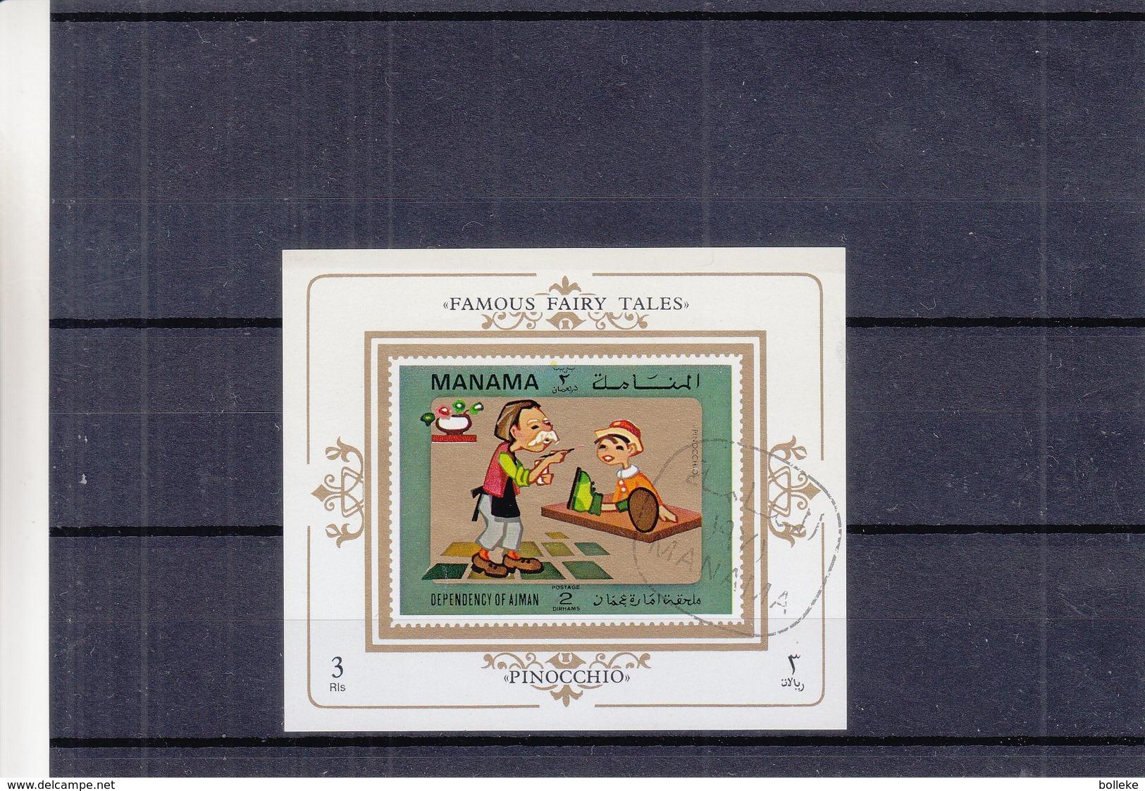 Contes - Fables - Manama - BF Oblitéré De 1971 - Pinocchio -  Tapis Volant - Märchen, Sagen & Legenden