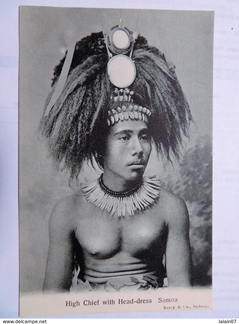 C.P.A. : SAMOA : High Chief With Head-dress - Samoa