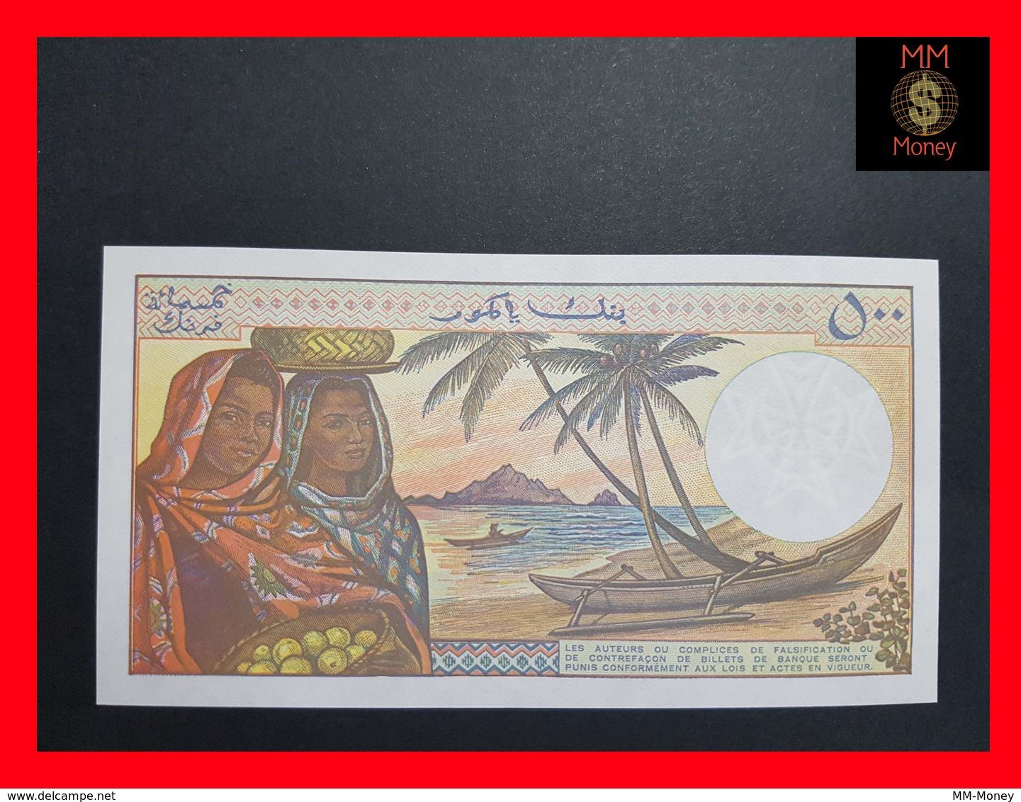 Comoros 500 Francs P. 10 Sign 9 UNC - Comores
