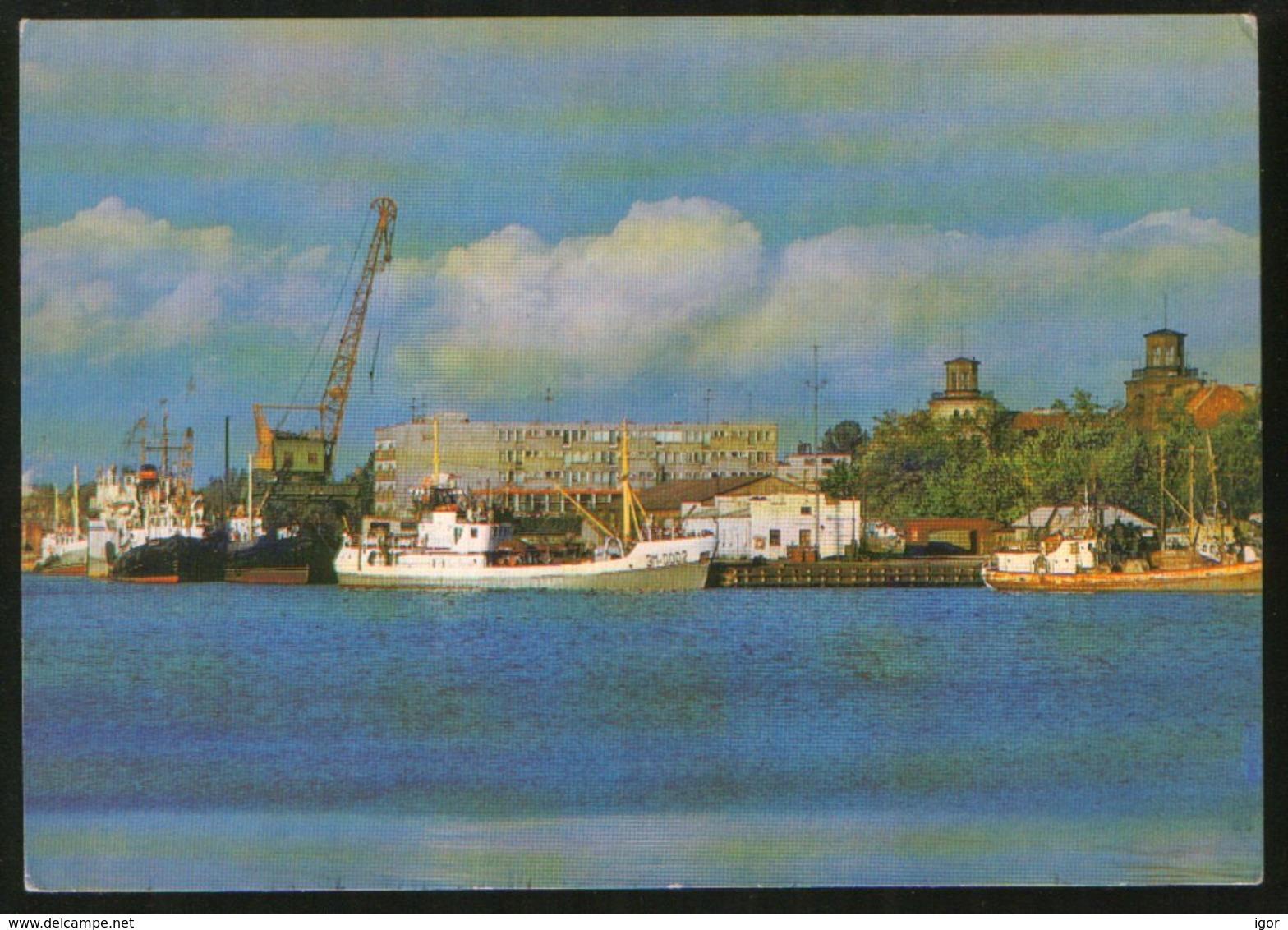 USSR Estonia 1984 Stationery Postcard PARNU Sea Port - Estonia