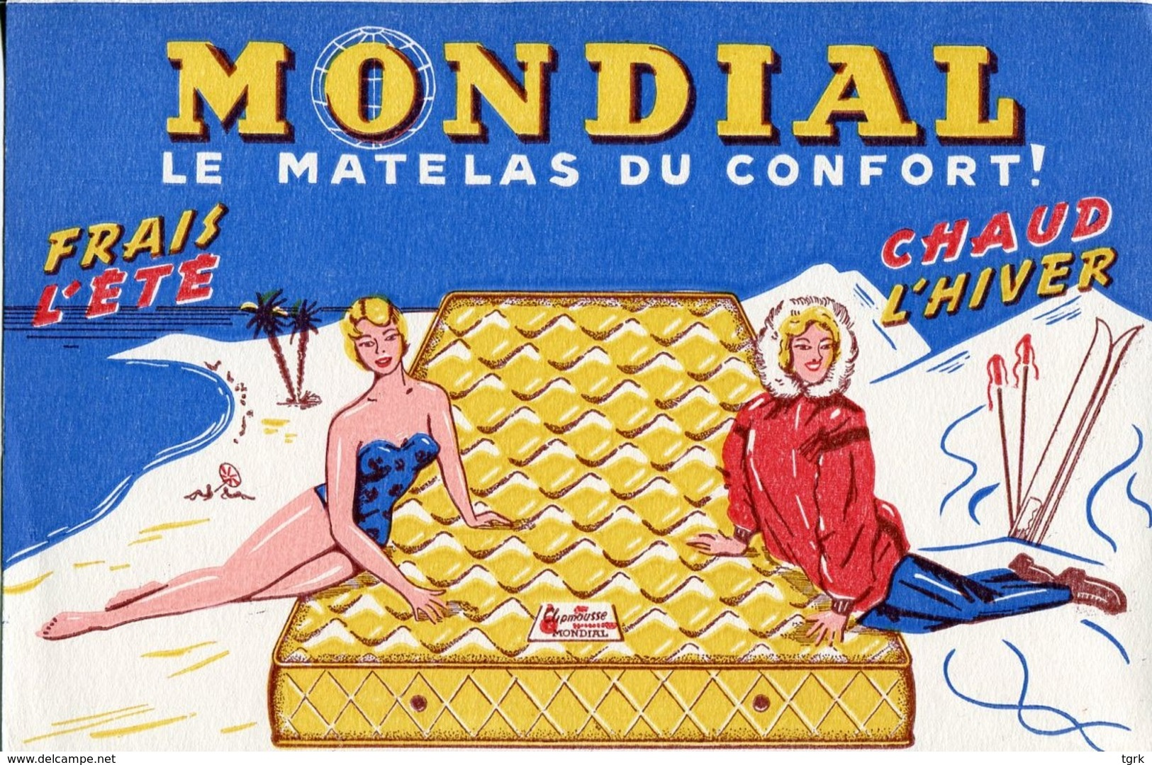 BUVARD MONDIAL Le Matelas Du Confort - Buvards, Protège-cahiers Illustrés