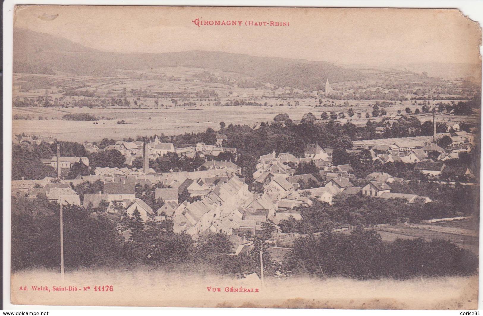 CPA - GIROMAGNY (Haut Rhin) - Vue Générale - Autres Communes