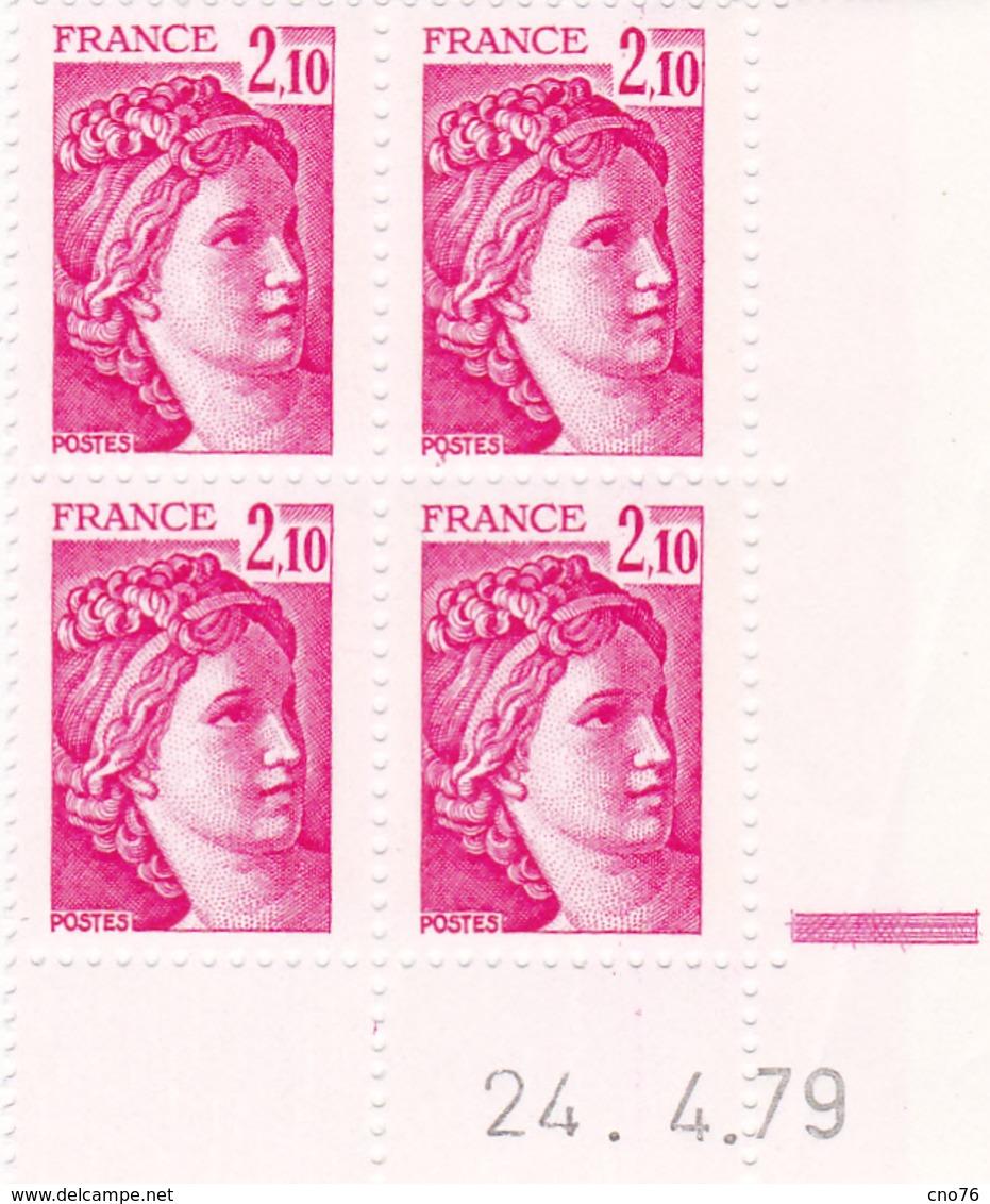 N° 1978 Coin Daté En Timbres Neufs Sabine - Esquina Con Fecha