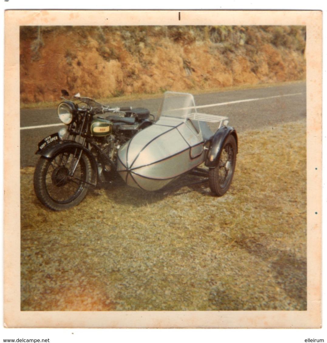 PHOTO. MOTO B.S.A. SLOPER 500 Cm3 1928. - Automobiles