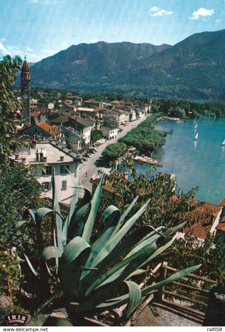 1 AK Schweiz * Blick Auf Ascona Am Lago Maggiore - Luftbildaufnahme - Kanton Tessin * - TI Ticino