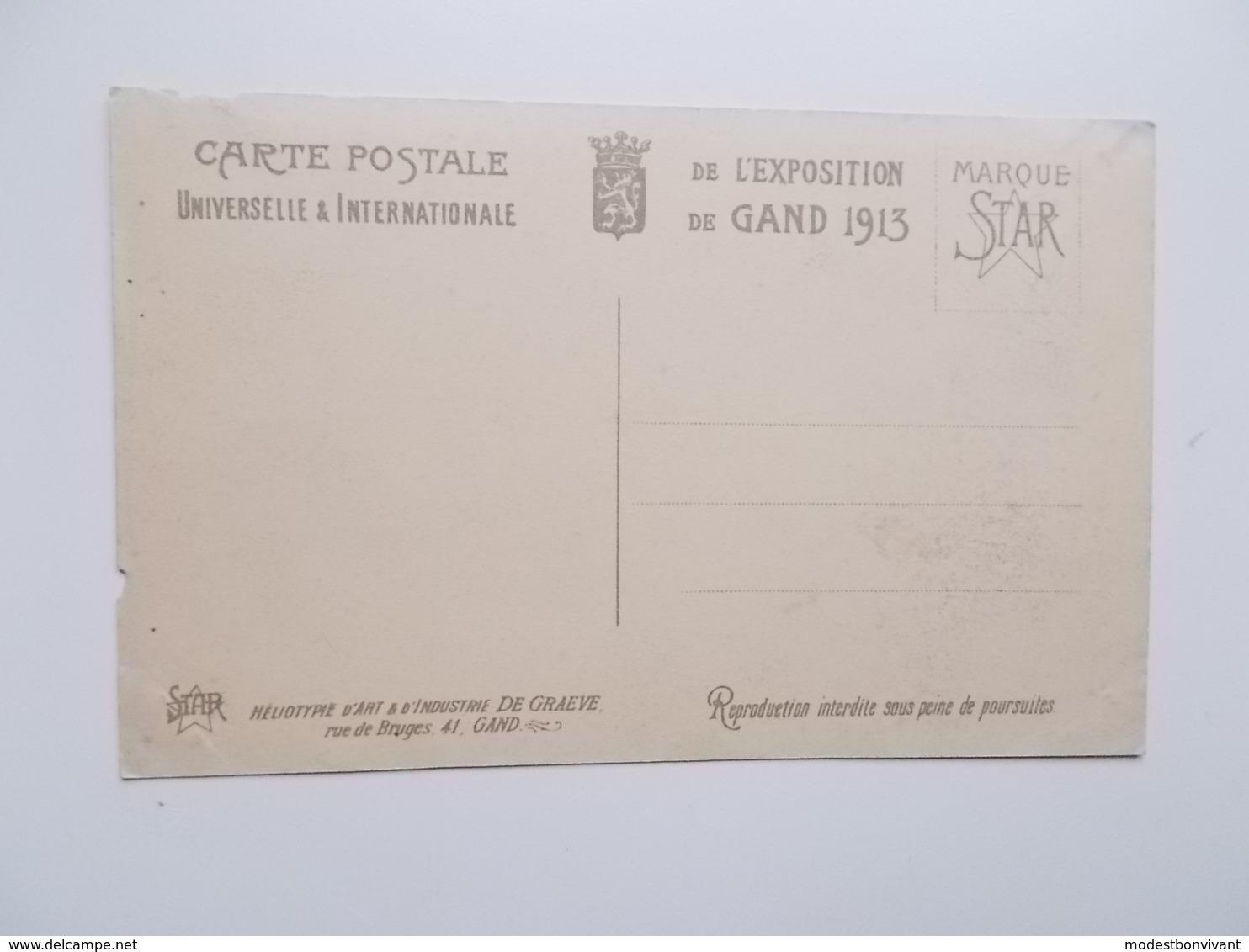 GENT- WERELDTENTOONSTELLING 1913 - L'Entrée Principale TAXI's Oldtimer , Paard En Koets , Gespan, Attelages  -  NO REPRO - Gent