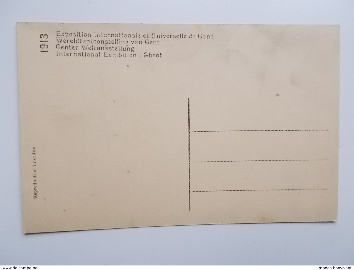 GENT- WERELDTENTOONSTELLING 1913 - Het Paleis Der Schone Kunsten - Palais Des Beaux-Arts  -  NO REPRO - Gent