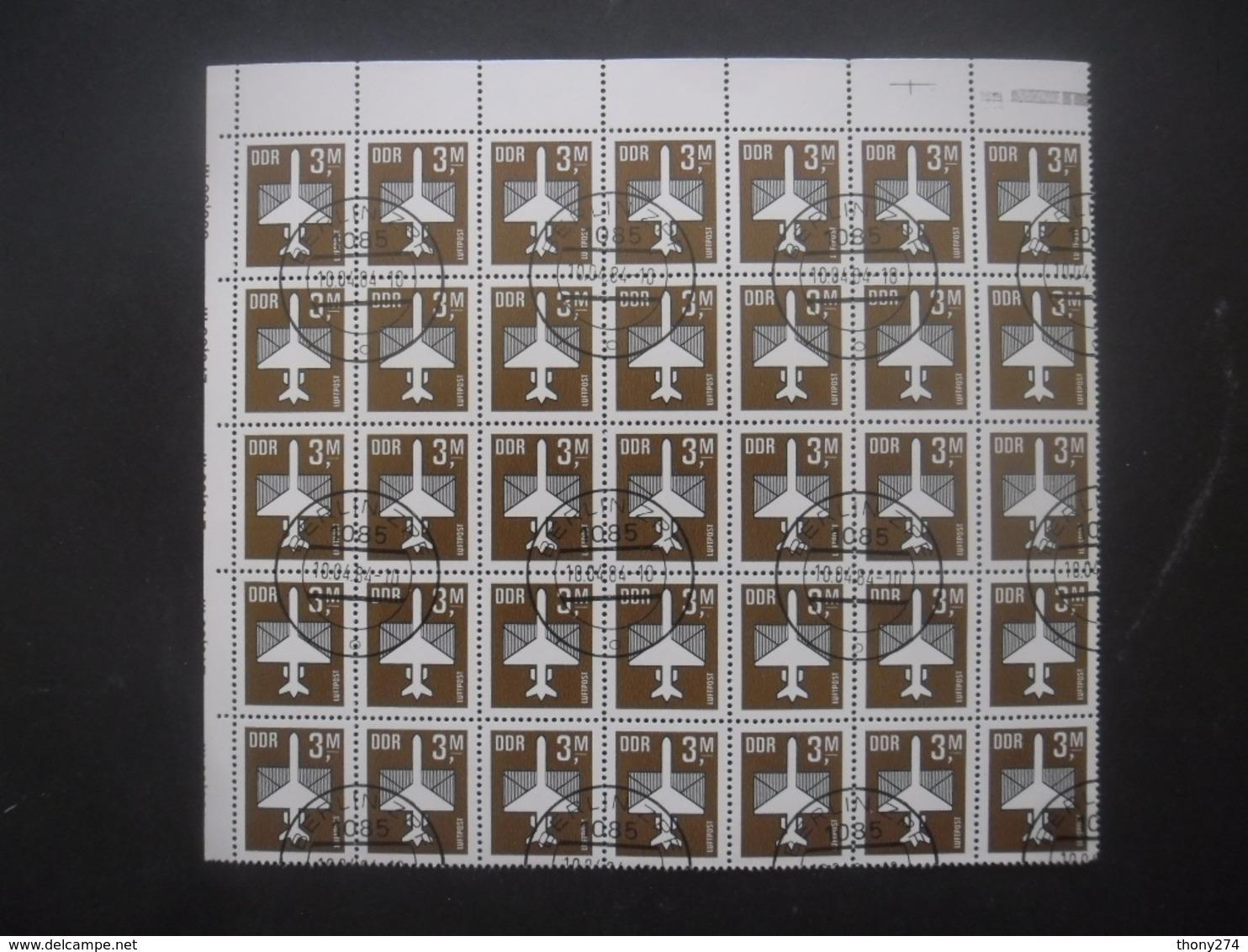 ALLEMAGNE DDR Poste Aérienne N°13 En Bloc De 35 Oblitéré Cote 63€ - Verzamelingen (zonder Album)