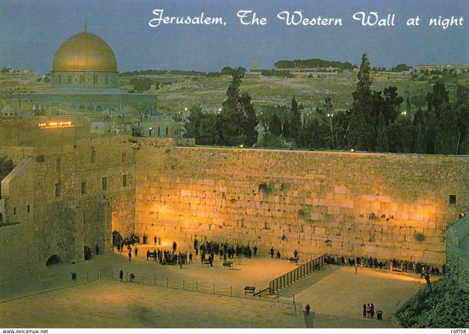 1 AK Israel * Die Klagemauer In Jerusalem - The Western Wall At Night * - Israel
