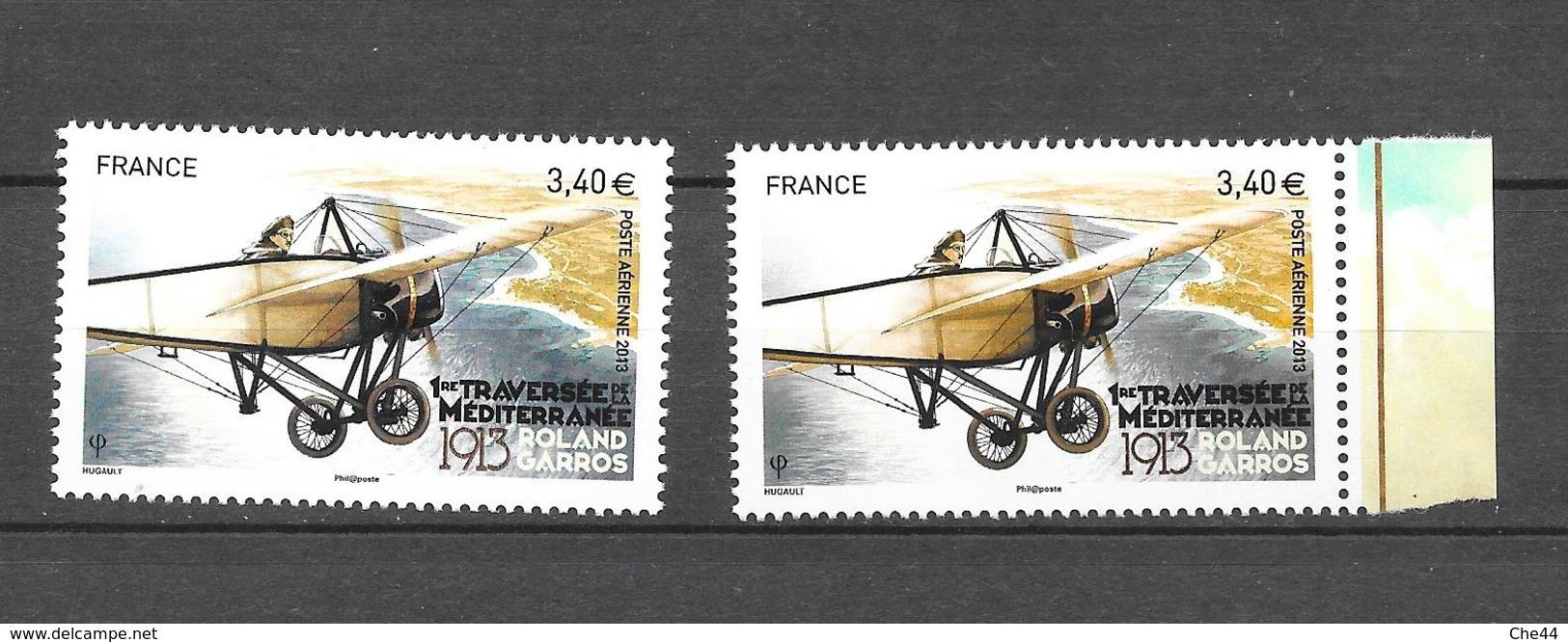 Roland Garros : 1ère Traversée De La Méditerranée. Planche Et Bloc. N°77 Chez YT. (Voir Commentaires) - 1960-.... Neufs