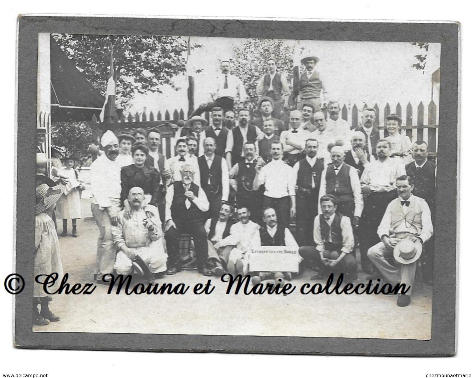 L INDEPENDANTE BOULE - CLUB DE BOULISTES - PETANQUE - BOULES - CDV PHOTO 11 X 8 CM - Pétanque