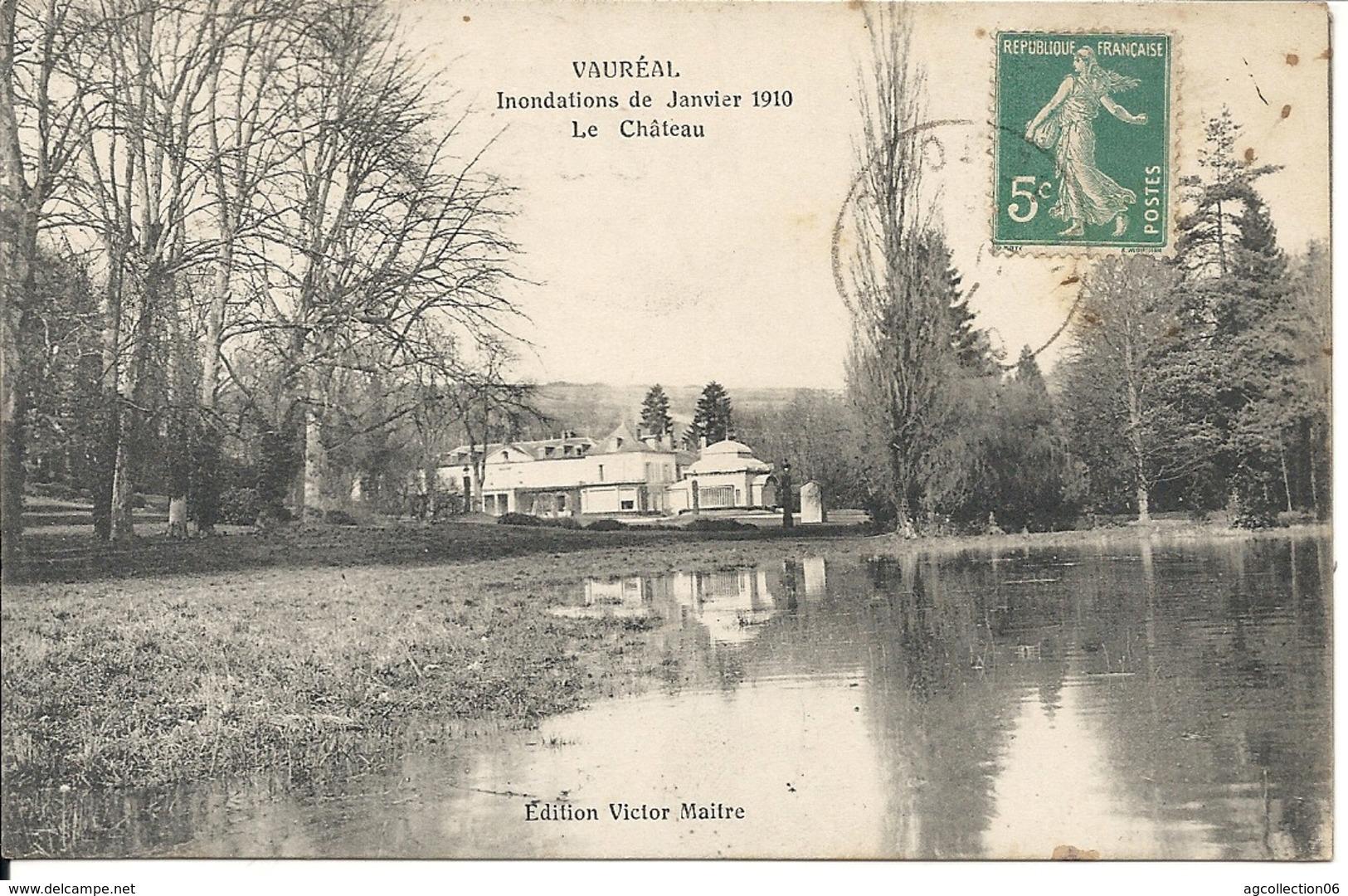 LE CHATEAU. INONDATIONS DE JANVIER 1910 - Vauréal