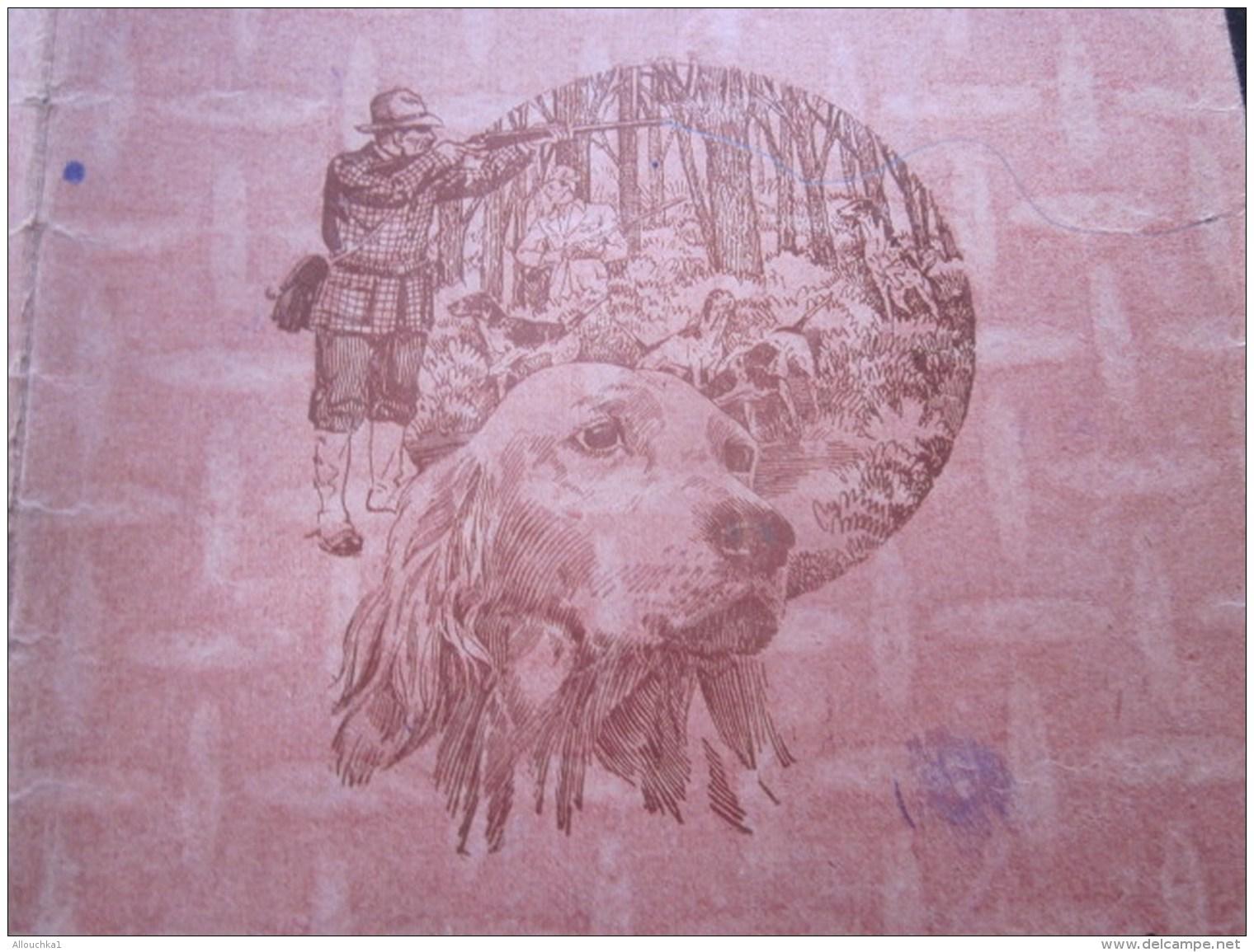 1944 Marseille Protège Cahier D'école,écolier Usagé Illustration Thème De La Chasse Dans Bois Chasse Avec Setter Chien- - Animaux