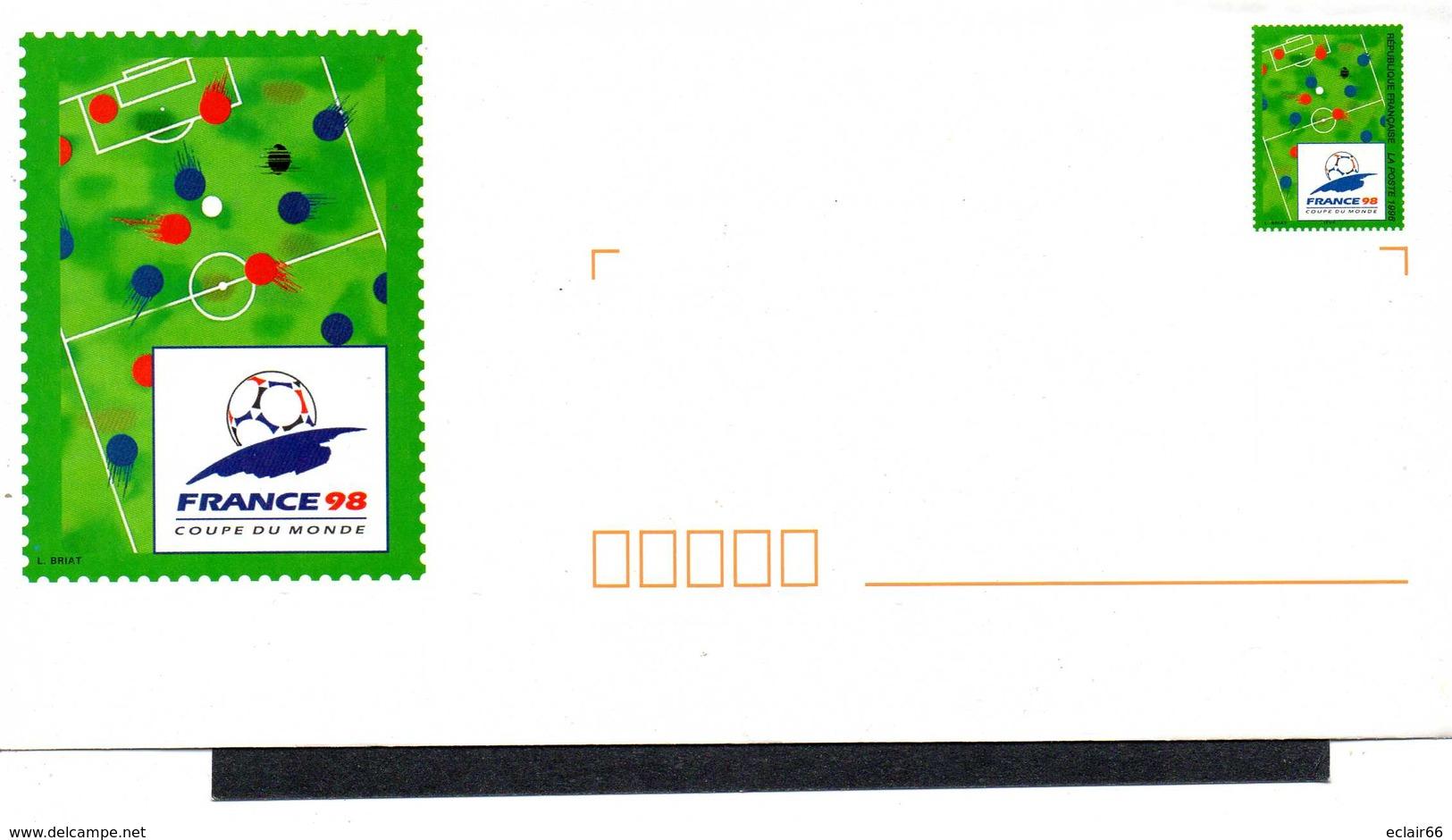 FRANCE 1 Enveloppe PAP Prêt à Poster N°YT 2985-E3 - 1997 -+Papier A Lettre Coupe Du Monde Football France98 - Entiers Postaux
