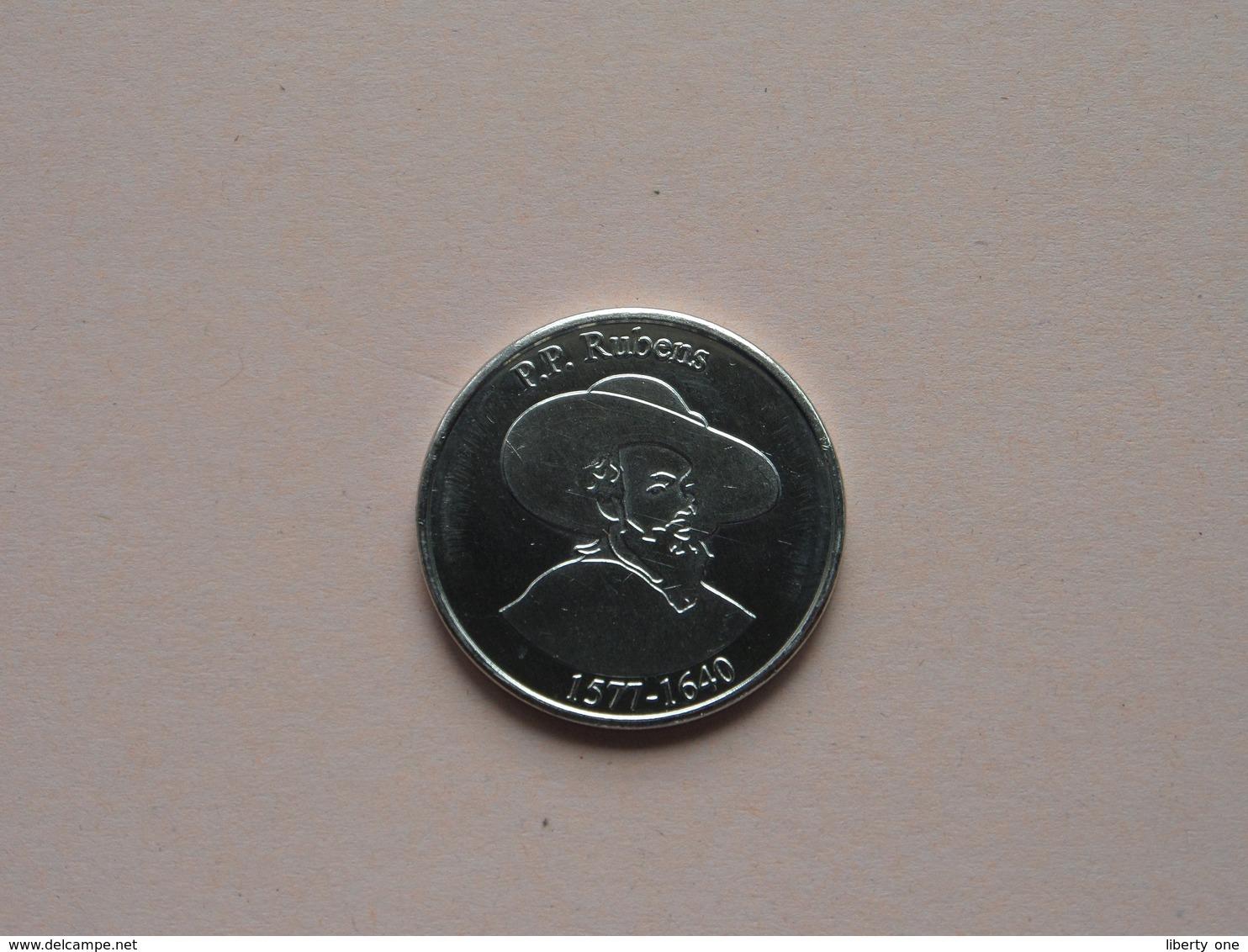P.P. RUBENS 1577 - 1640 / Belgian Heritage - National Tokens B ( Zonder Jaartal ) ! - Pièces écrasées (Elongated Coins)