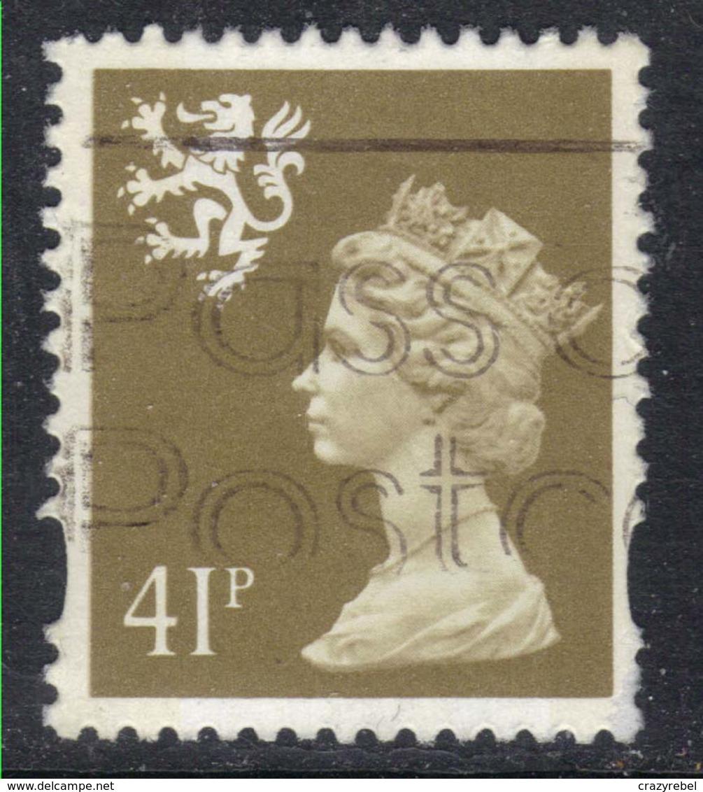 Scotland GB 1993 - 98 QE2 41p Grey Brown Machin SG S 88 ( D1317 ) - Regional Issues