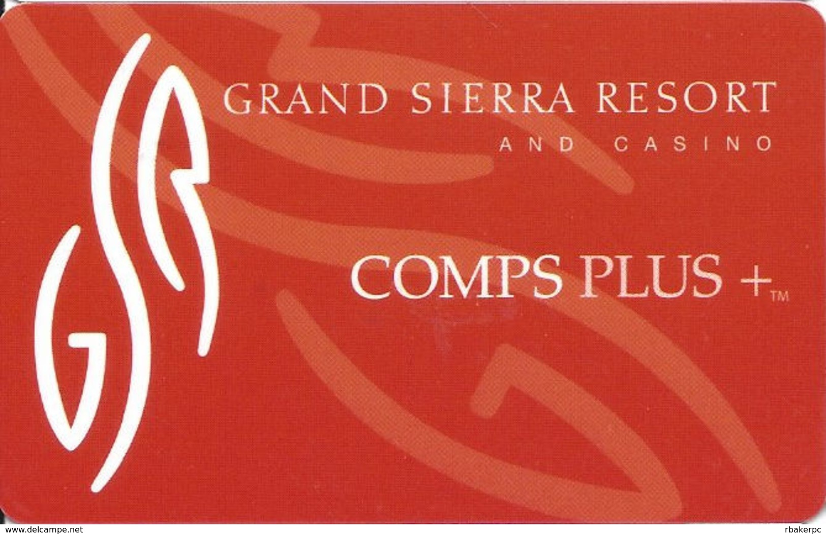 Grand Sierra Casino - Reno, NV - Slot Card - Casino Cards