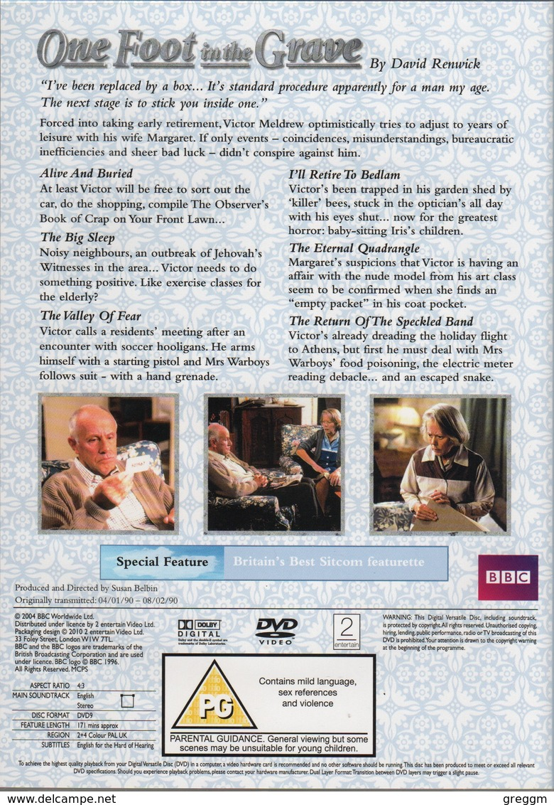 One Foot In The Grave Complete Box Set Series 1 - 6 Plus Christmas Specials. (36 Episodes Plus 2 Specials) - Comedy