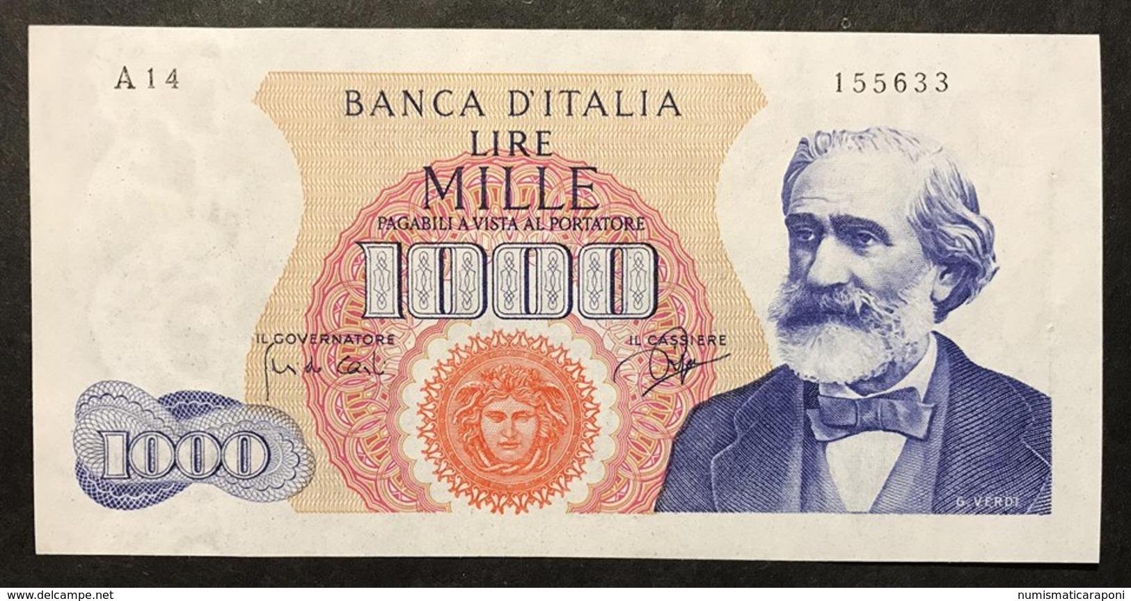 1000 LIRE VERDI I° TIPO 14 07 1962  Spl+ LOTTO 2173 - 1000 Lire