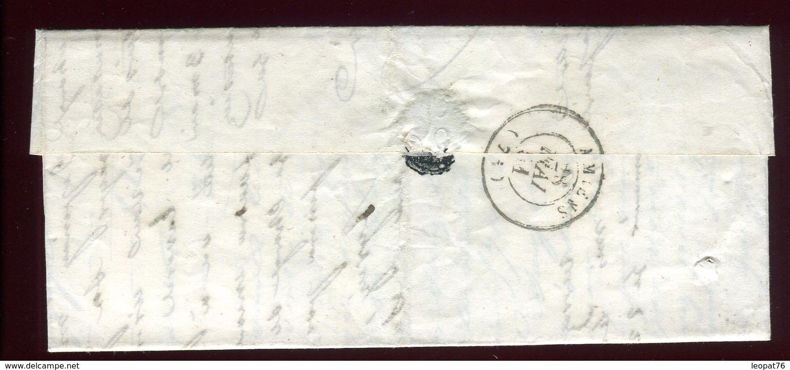 Lettre Avec Texte  ( Scan Intérieur Sur Demande) De Aumale Pour Amiens En 1851 - Marcophilie (Lettres)