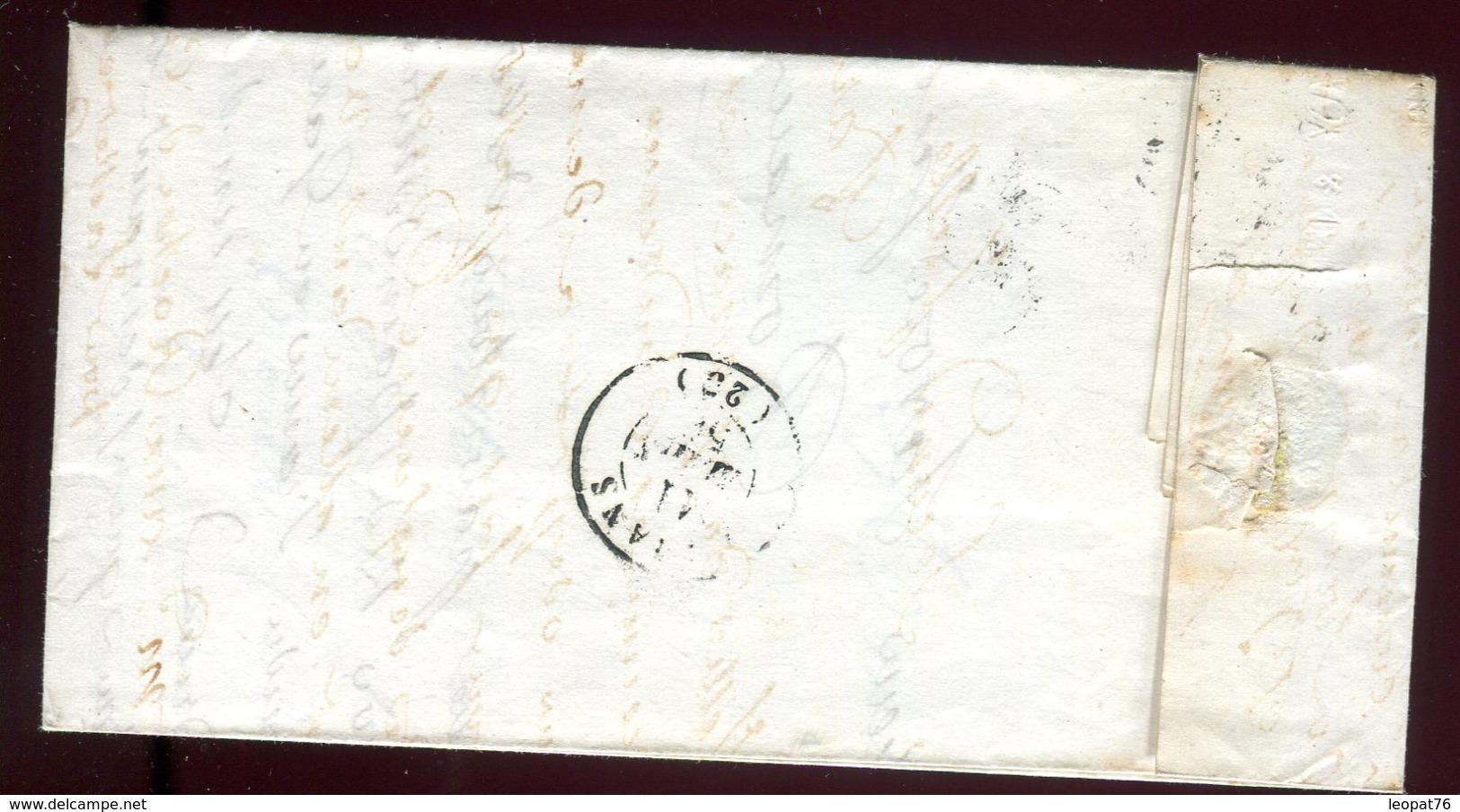 Lettre Avec Texte ( Scan Intérieur Sur Demande ) De Valence Pour Romans En 1858 - 1849-1876: Période Classique