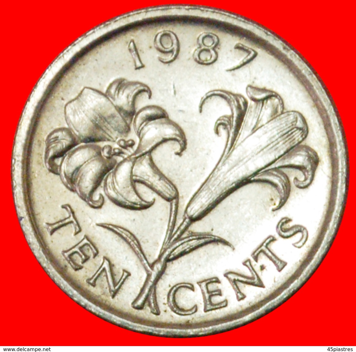 # FLOWER (1986-1998): BERMUDA ★ 10 CENTS 1987! LOW START ★ NO RESERVE! - Bermuda