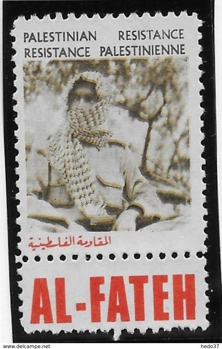 Palestine - AL-FATEH - Vignette Résistance Palestinienne - Neuf * - Palestine