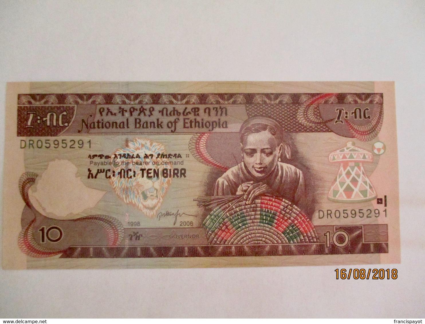 Ethiopie: 10 Birr - Neuf - Ethiopie