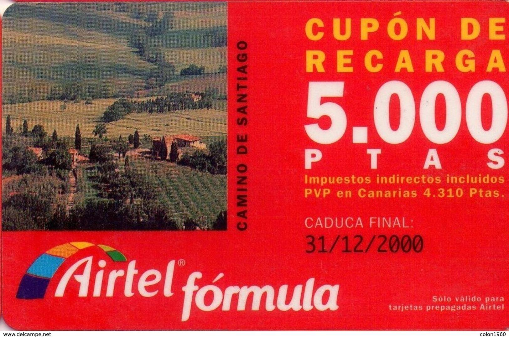 TARJETA TELEFONICA DE ESPAÑA, (PREPAGO) 179. CAMINO DE SANTIAGO.. - Airtel