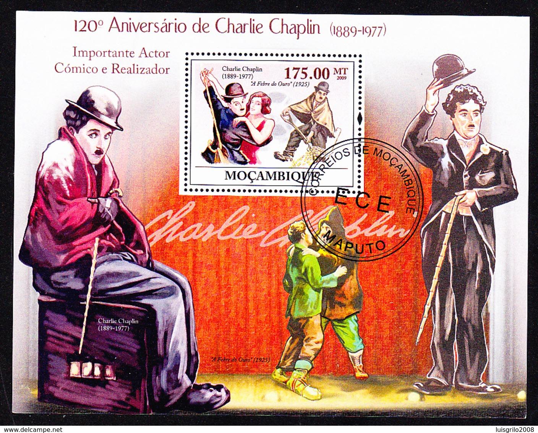 CHARLIE CHAPLIN - 120º Aniversário, Moçambique, 2009 / Private Issue - Fdc - Acteurs