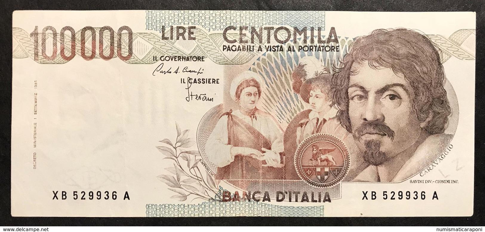 100000 Lire Caravaggio I° Tipo Serie Sostitutiva XB 1985 Bb/spl Lotto.2233 - 10000 Liras