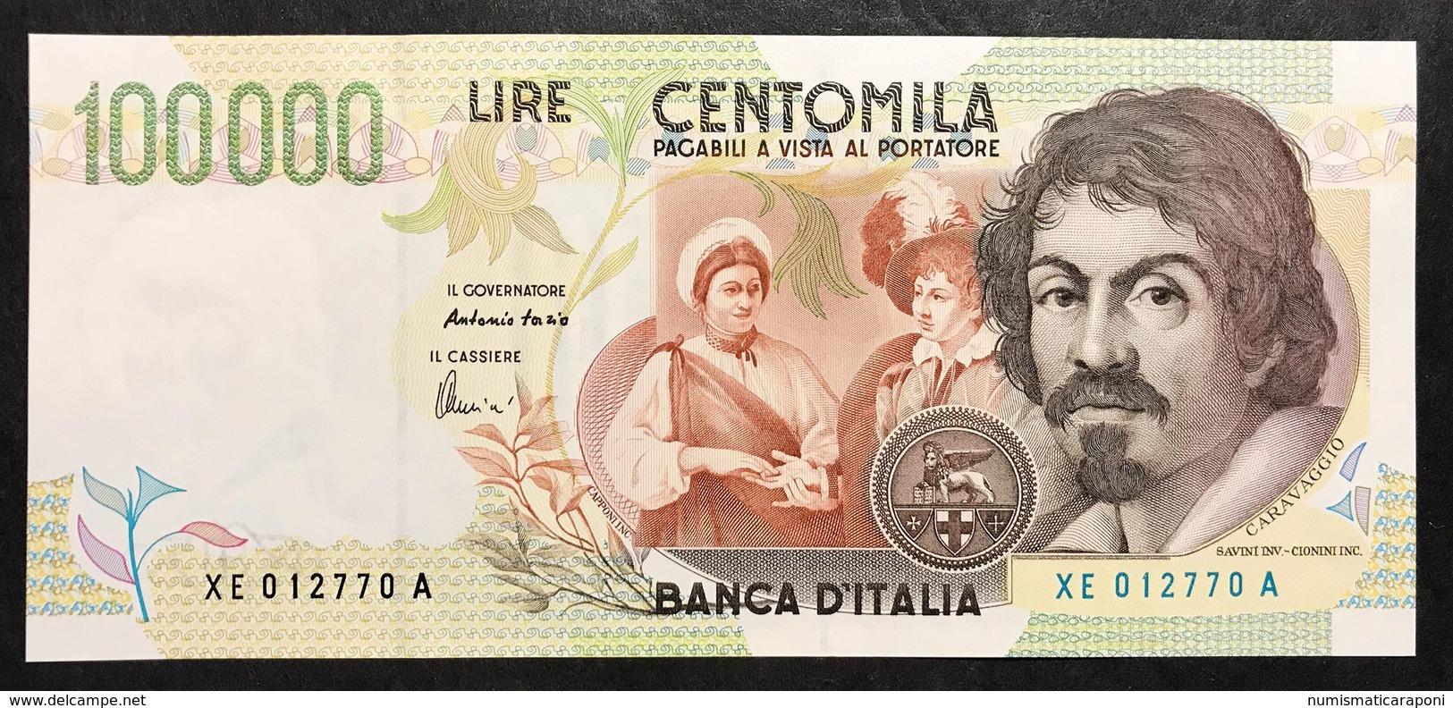 100000 Lire Caravaggio II° Tipo Serie Sostitutiva XE 1998 Q.fds Lotto.2234 - 10000 Lire