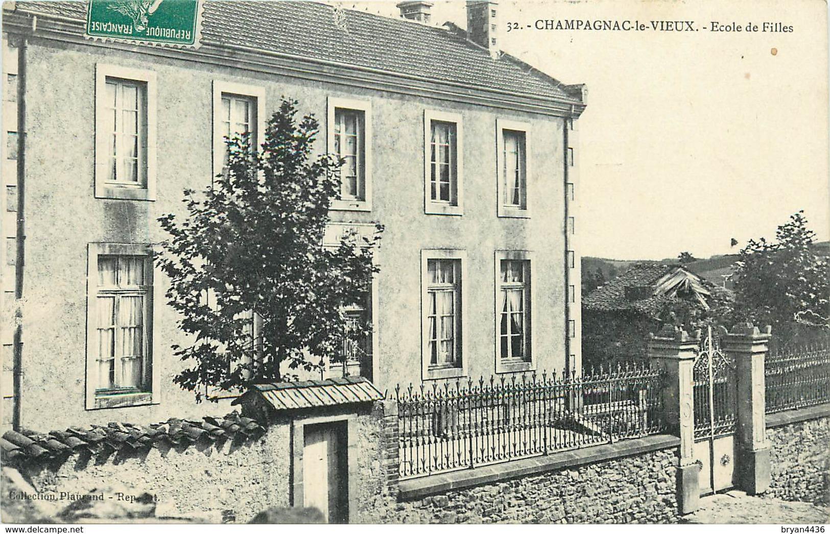 43 - CHAMPAGNAC LE VIEUX - L' ECOLE DE FILLES - Frankrijk