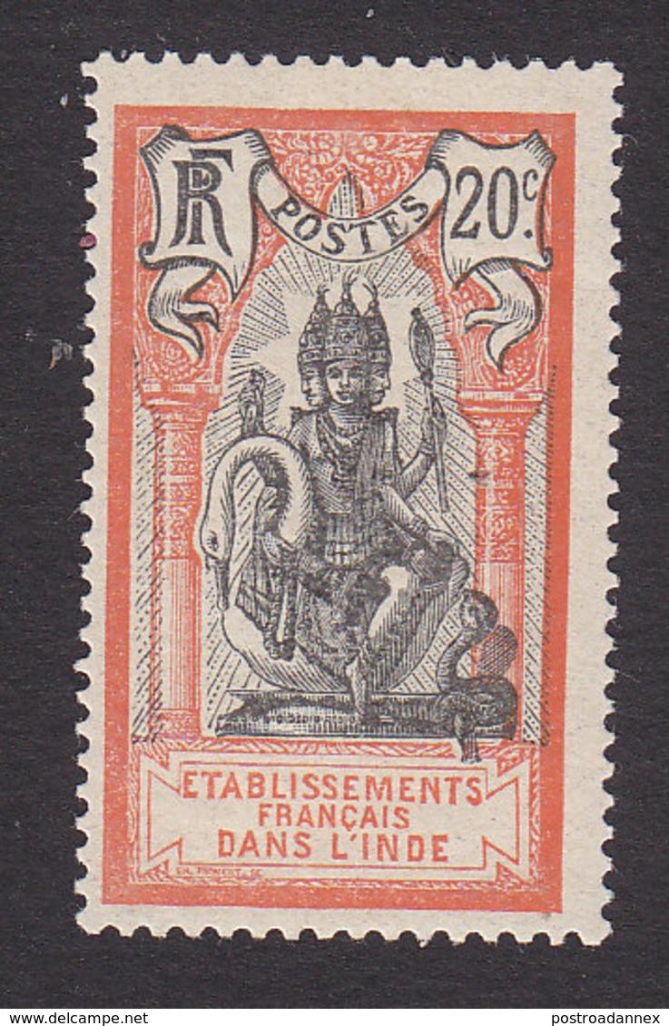 French India, Scott #35, Mint Hinged, Brahma, Issued 1914 - India (1892-1954)