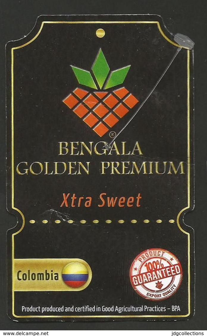 # PINEAPPLE BENGALA No-Size GOLDEN PREMIUM Fruit Tag Balise Etiqueta Anhanger Ananas Pina Colombia - Fruits & Vegetables