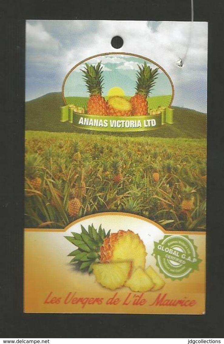 # PINEAPPLE VICTORIA LES VERGERS DE L'ILE MAURICE MAURITIUS Fruit Tag Balise Etiqueta Anhanger Ananas Pina - Fruits & Vegetables