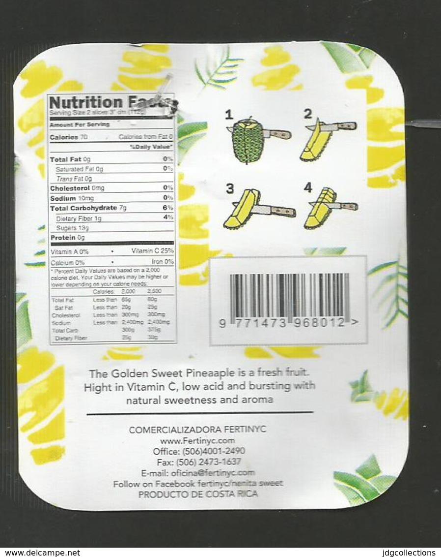 # PINEAPPLE NENITA SWEET SLIGHTLY OVAL Type Fruit Tag Balise Etiqueta Anhanger Ananas Pina Costa Rica - Fruits & Vegetables