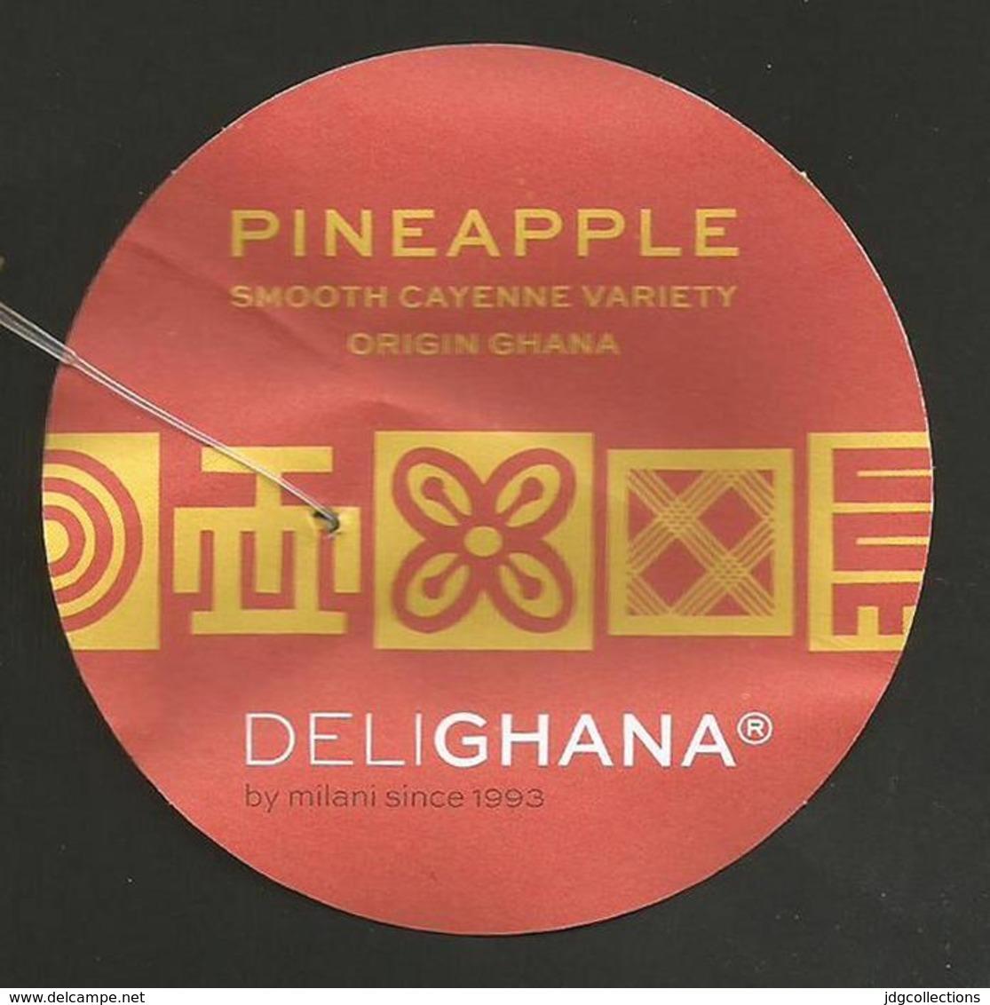 # PINEAPPLE DELIGHANA SMOOTH CAYENNE VARIETY Fruit Tag Balise Etiqueta Anhanger Ananas Pina Ghana Afrika - Fruits & Vegetables