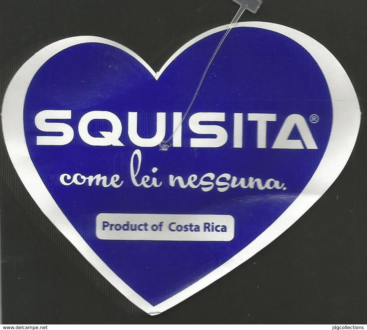 # PINEAPPLE SQUISITA Distributed By GRASSO Fruit Tag Balise Etiqueta Anhanger Ananas Pina Costa Rica Cuore Heart Coeur - Fruits & Vegetables