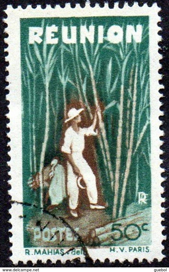 Réunion Obl. N° 265 - Détail De La Série émise En 1947 - 50cts Vert Et Brun - Réunion (1852-1975)