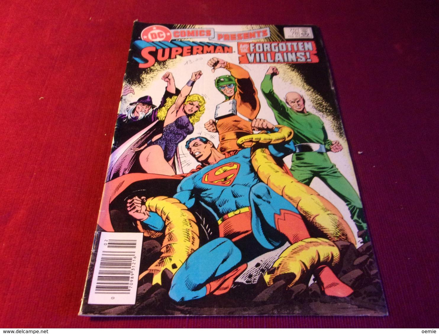 COMICS PRESENTS  SUPERMAN  AND THE FORGOTTEN VILLAINS  No 78 FEB 85 - Livres, BD, Revues