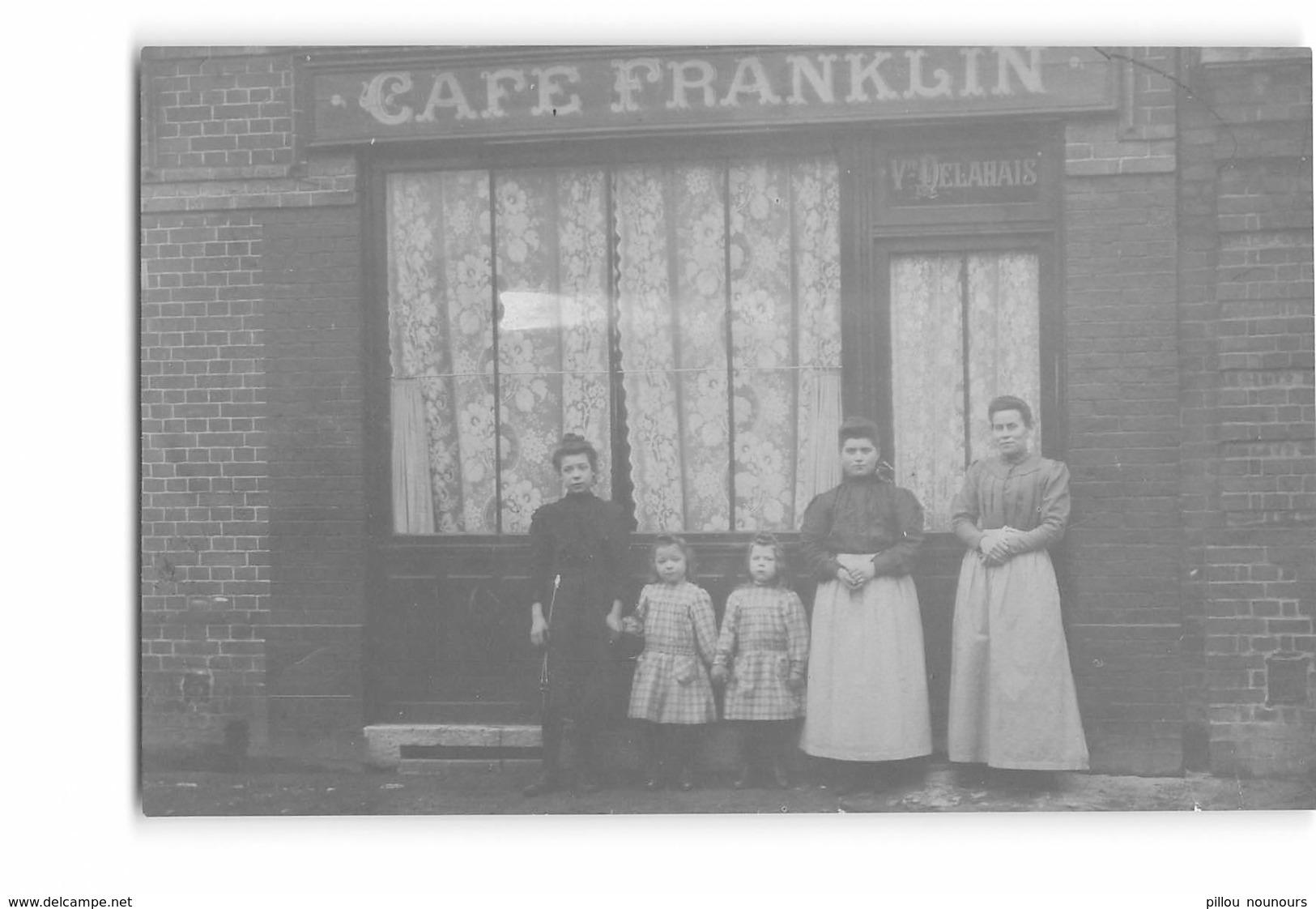 CPA Photo _ Le Havre _ Rue Franklin _ Café Franklin _ Carte Courte, En L'état - Le Havre