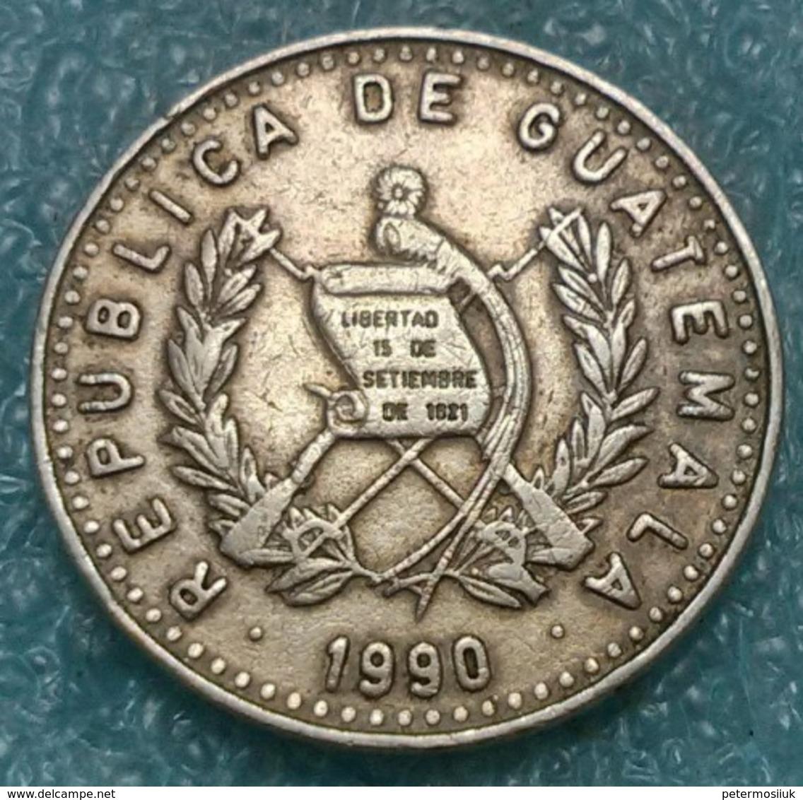 Guatemala 25 Centavos, 1990 - Guatemala