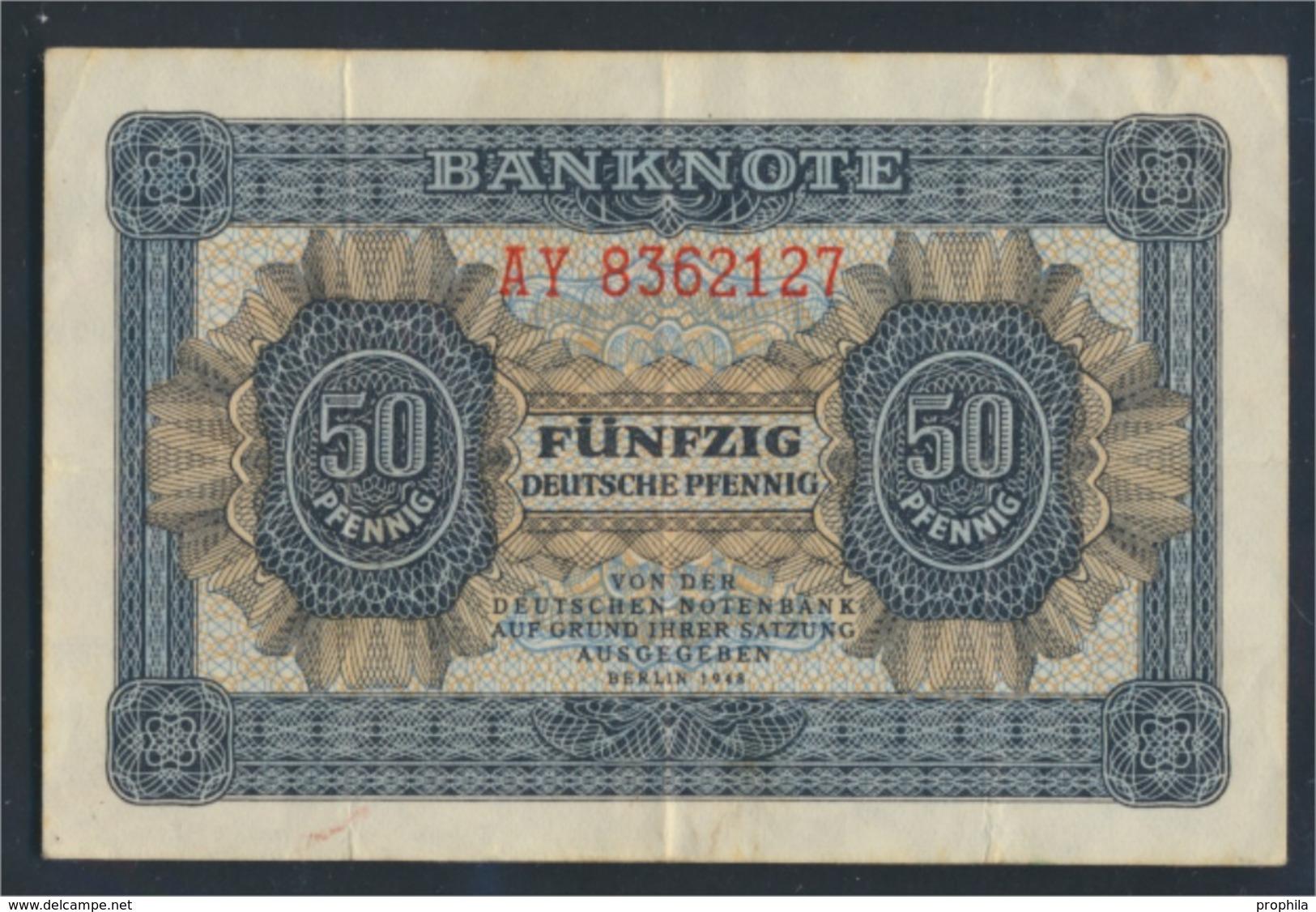 DDR Rosenbg: 339e KN 7stellig, Davor Zwei Buchstaben Gebraucht (III) 1948 50 Deutsche Pfennig (9223279 - 50 Deutsche Pfennig
