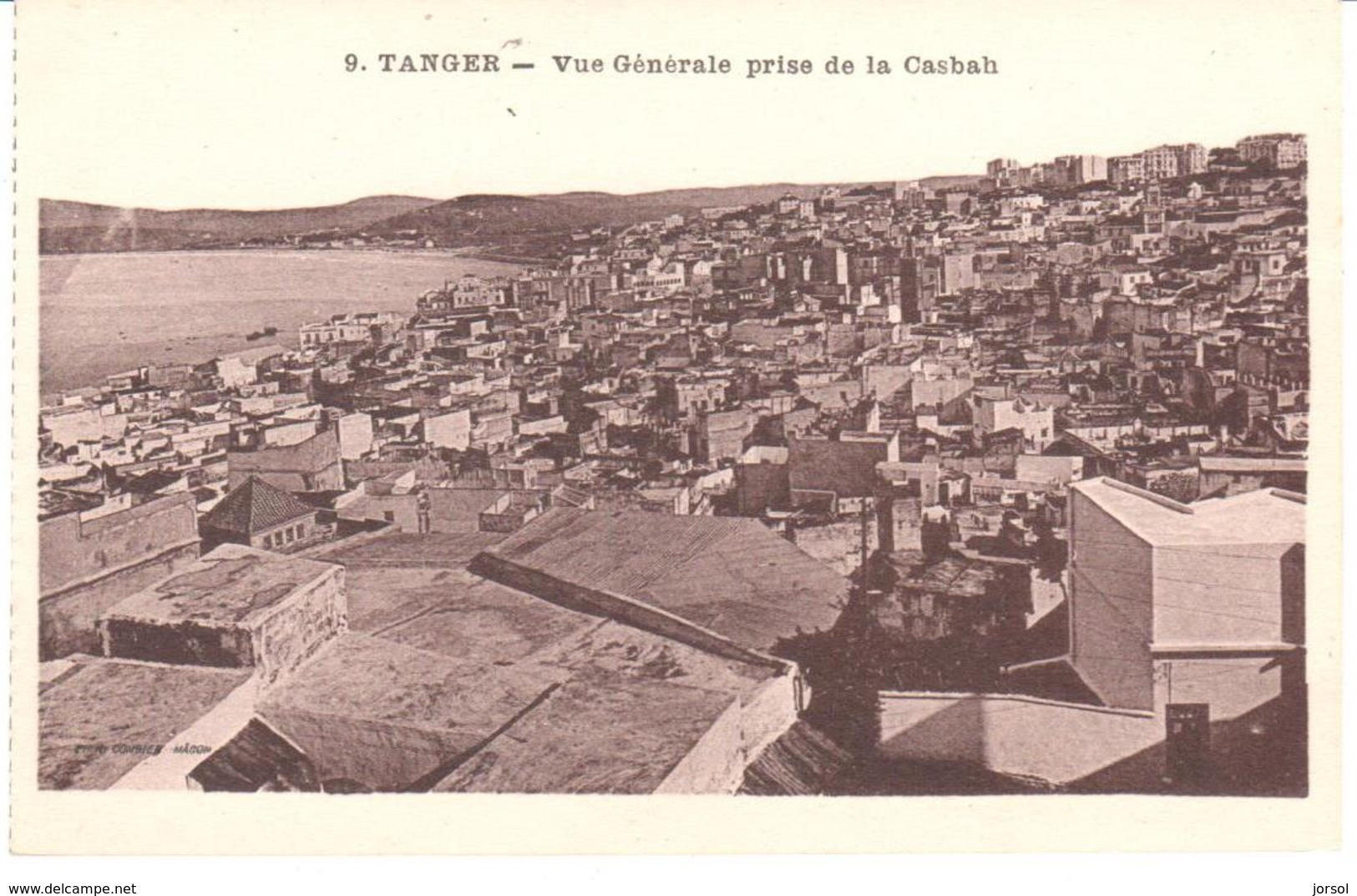 POSTAL   TANGER  -MARRUECOS  - VUE GÉNÉRALE PRISA DE LA CASBAH - Tanger
