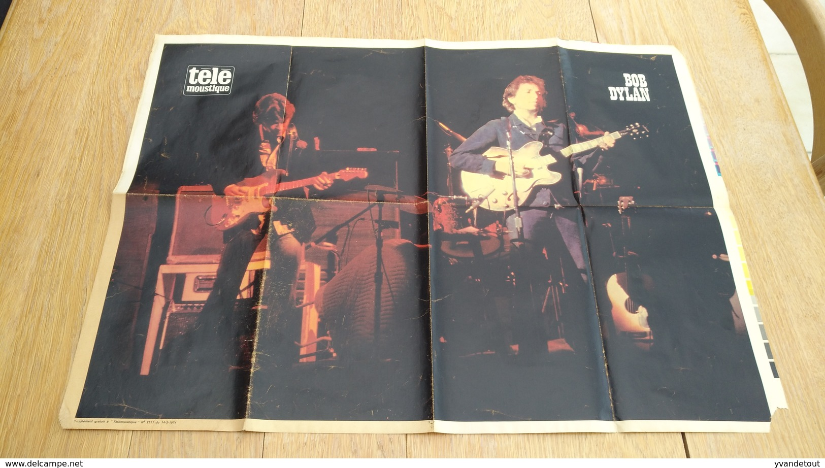 Affiche Poster Télé Moustique. Bob Dylan. 1974 - Affiches