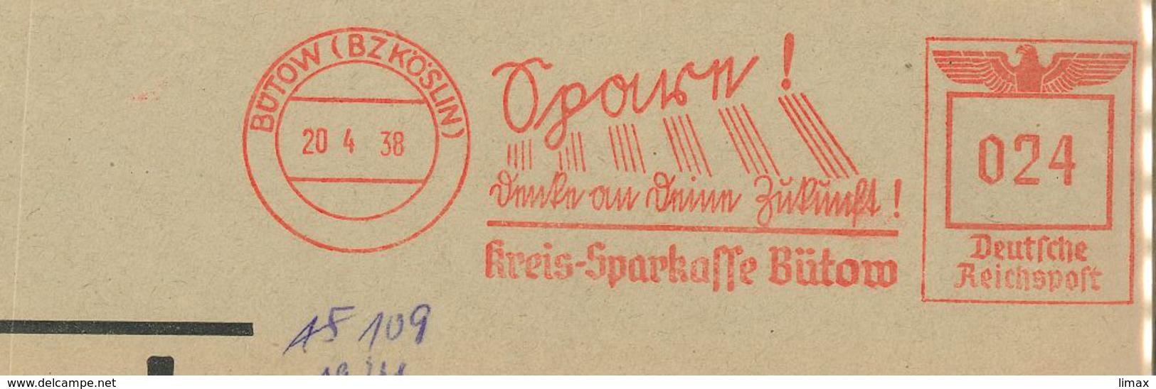 Frankotyp F Bütow Köslin Spare Zukunft Kreis Sparkasse - Allemagne