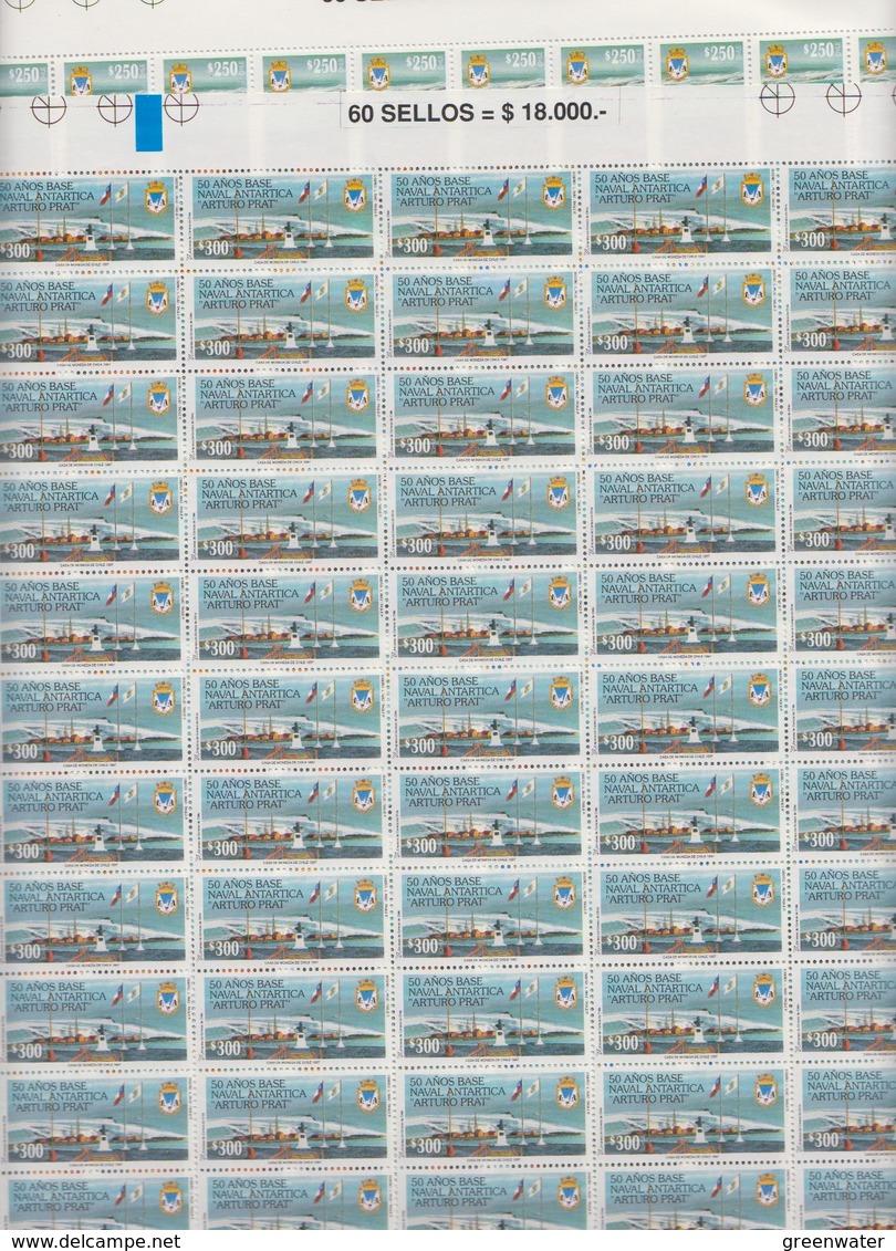 Chile 1997 Antarctica / Base Arturo Prat 2v Sheetlets (shtlts Are 1x Folded) ** Mnh (F7382) - Chili