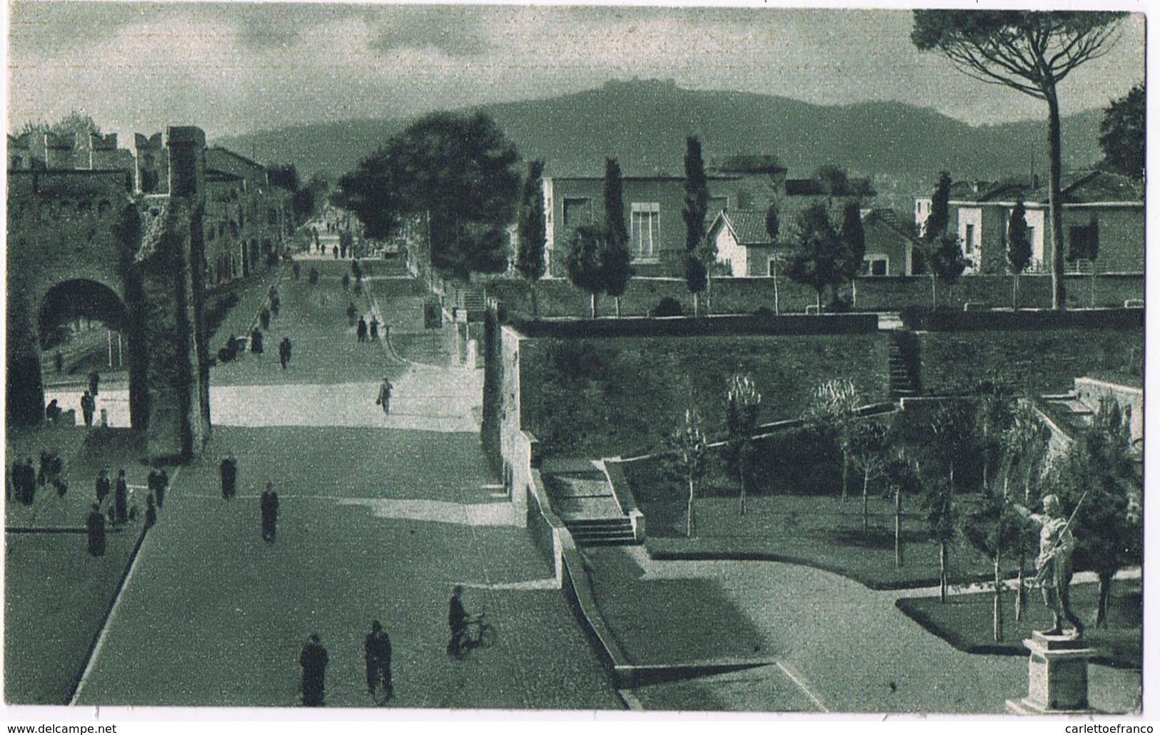 Giardini Roma - Porta Malatestiana - Via Flaminia V.1943 - Fano
