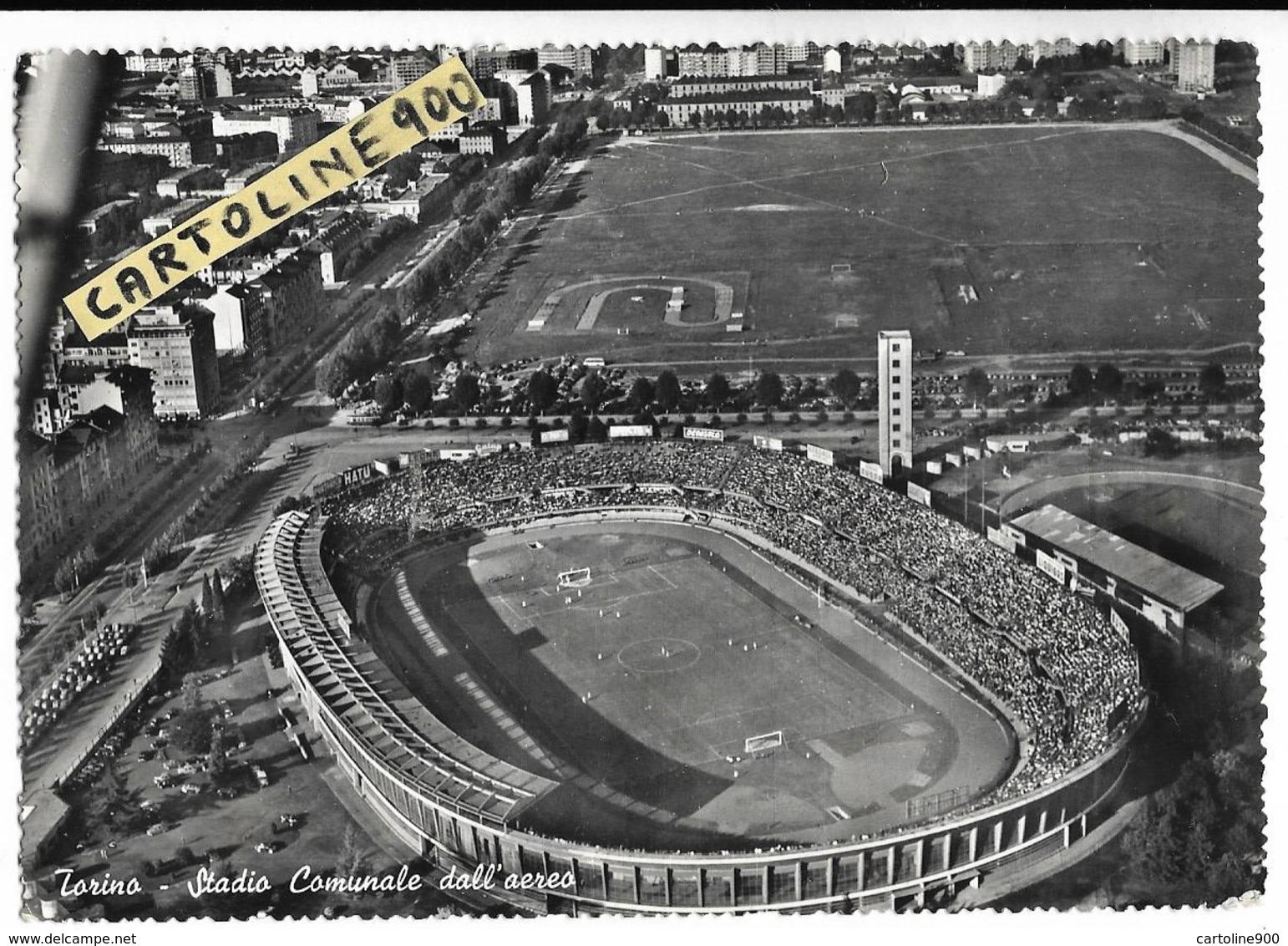 Calcio Football Stadium Estadio Stade Campo Di Calcio Torino Stadio Comunale Veduta Aereo Anni 50/60 Piemonte - Calcio